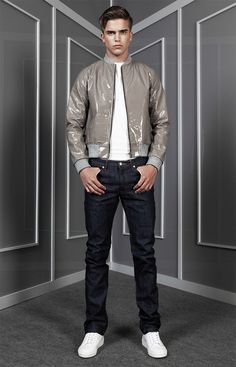 Anzevino-Getty_ss15_lookbook_fy6 River Viiperi, Hipster Design, Fashion Models, Mens Fashion, Young Models, Young Fashion, Ss 15, Spring Summer 2015, Bomber Jacket