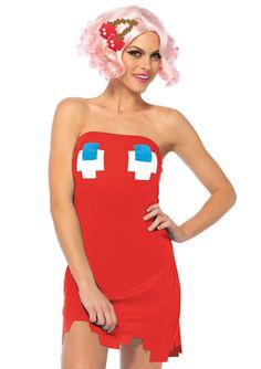 New Leg Avenue PM86663 Pac Man Ghost Dress Female Adult Costume  #LegAvenue