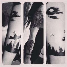 Endor silhouette - #endor #wicket #ewok #deathstar #starwars #fangirl #tatted #tattedgirls