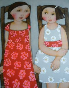 """Cecile Veilhan - """"Rose and Marguerite"""""""