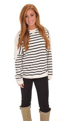 shopbluedoor.com: Staying on trend has never been so easy thanks to this striped top! $34
