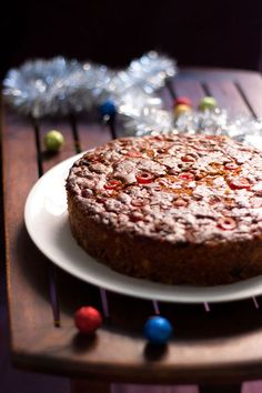 VEGAN christmas-fruit-cake-recipe-•½ cup raisins •½ cup chopped cashews •¼ cup chopped citrus peels •8-9 apricots (dry or fresh) •½ cup chopped dates •¼ cup tutti fruity •9-10 glazed cherries, sliced •1 cup rum or 1 cup orange juice or apple juice  for the main cake batter •1 and ½ cup all purpose flour/maida, 187 gms •¾ cup whole wheat flour/atta, 90 grams •1 and ½ cup demerara sugar or brown sugar or powdered sugar or 300 gms demerara or brown sugar or 335 gms powdered sugar •1 cup oil or…