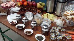 Rustic Tea corner at Pitti Bimbo 2016 - Fresh fruit, Chai tea, mint, herbal, green tea all accampanied by lavander and vanilla sugar, rock candy mini red velvet and carrot cakes all from #guidilenci team All Rights Reserved GUIDI LENCI www.guidilenci.com