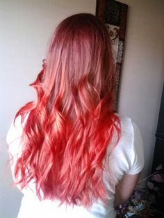 My red ombre hair :)