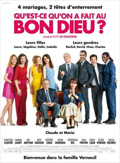 'Qu'est-ce qu'on a fait au bon dieu?' directed by Philippe de Chauveron with Christian Clavier, Chantal Lauby // Plot: about two parents and their four daughters getting married one by one // of June Movies 2014, All Movies, Great Movies, Movies To Watch, Foreign Movies, Movies And Series, Movies And Tv Shows, Film Movie, Film Vf