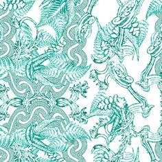 Six Hands Congo Peacock wallpaper
