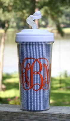 monogram and seersucker?! Loves