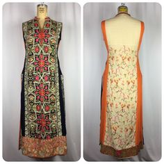 VINTAGE Amazing Heavily Embroidered Tunic Kaftan Long Top Dress. XS-Small #Unbranded #EmbroideredTunic #EveningOccasion