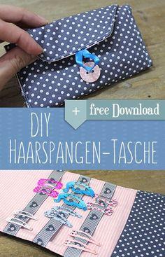 DIY Haarspangen Tasche. Super Lösung für Haarklammern. Einfach selbst gemacht mit Anleitung.  #selfmade #diy #Hairclips #organized