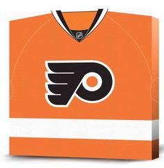 nhl philadelphia flyers dark jersey canvas print 12 x 12 by game on images