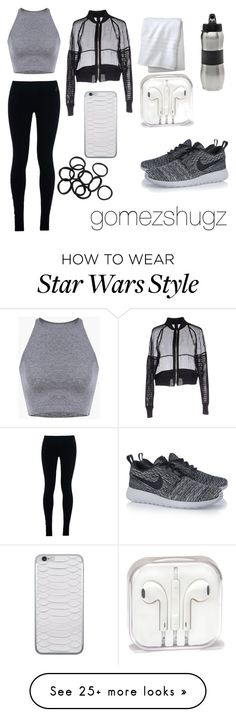 """black, white, silver,gray, grey"" by gomezshugz on Polyvore featuring NIKE, Vera Wang, Fieldcrest, Zak! Designs and H&M"