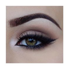 appearance, brown eyes, cute, eye lashes, eyebrows, eyeliner, eyes,... ❤ liked on Polyvore featuring beauty products, makeup, eye makeup, brow makeup, brown eye makeup, brown cosmetics, eye brow makeup and brown makeup