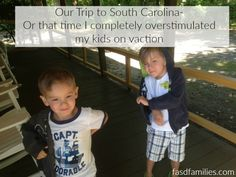 Overstimulation leads to meltdowns, not tantrums. Which I learned about when I completely overstimulated my kids with FASD on our last trip.