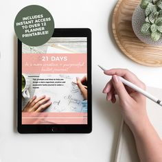 New bullet journal ebook to help you design a more creative, organised and purposeful bullet journal in under a month! Get 21 days of tips, prompts and ideas to help you take your bullet journaling to the next level. #bulletjournal #bulletjournaling #bujo #bulletjournalebook #howtobulletjournal #startabulletjournal #bulletjournalideas #bulletjournaldailylog #bulletjournalmonthlylog #habittracker #learnbulletjournaling