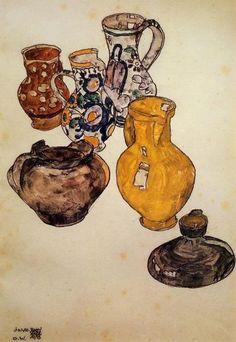 Egon Schiele - Ceramics, 1918