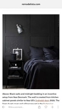 Matte black life Bedroom Decor Dark Dark Blue Bedroom Walls Black Bedroom Design & 10 black painted walls to inspire you in 2018 | INTERIORS | Cozy ...