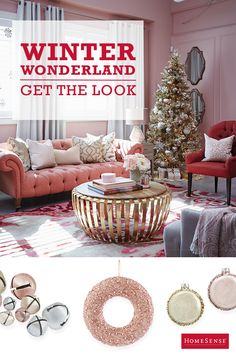 Oodles of sparkle, flocked trees, vintage-style trinkets, sequin stockings – this ain't your momma's Christmas decor! Glittery and girlie are the calling cards of this holiday scheme, and if you love this look as much as we do, get to a HomeSense store stat to enjoy all this glamorous goodness.