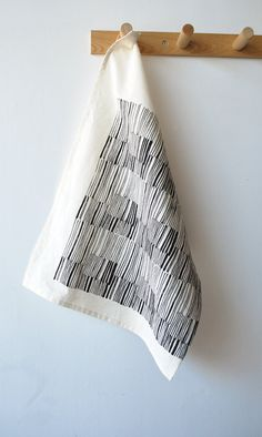 TEA TOWEL  lines by bookhouathome on Etsy