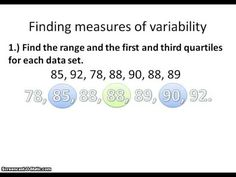 4.4 Variablilty Box and Whisker Plots - YouTube