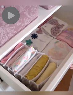 Nursery Drawer Organization, Small Closet Organization, Closet Storage, Room Organization, Underwear Organization, Organization Ideas For Bedrooms, Bedroom Organisation, Diy Clothes Storage, Clothing Storage