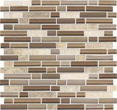 Mohawk Phase Mosaics Stone and Glass Wall Tile 5/8 -Backsplash