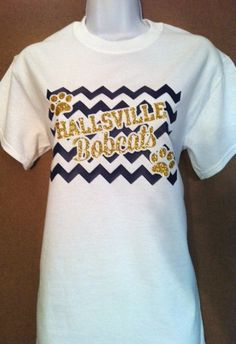 Items similar to Chevron School Spirit T-Shirt with Your Team and Mascot 2 color with GLITTER wording. Popular for Football, Basketball, Baseball and more on Etsy School Spirit Wear, School Spirit Shirts, School Shirts, Cheer Shirts, Basketball Shirts, Sports Shirts, Sports Day Outfit, Football Spirit, Football Season
