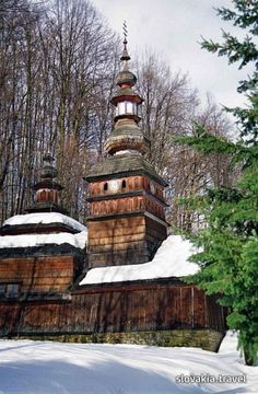 Slovakia- Bardejov (greekcatholic wooden church) Sacred Architecture, Church Architecture, Religious Architecture, Abandoned Churches, Old Churches, Europe Centrale, Home Temple, Church Pictures, Voyage Europe