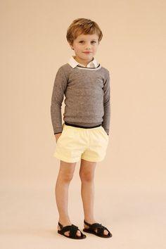 Caramel. Should I hem up some of Ike's shorts this year?
