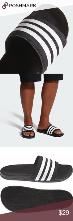 1a6f404826a6 ADILETTE CLOUDFOAM PLUS STRIPES SLIDES ap9971 ADILETTE CLOUDFOAM PLUS  STRIPES SLIDES SOFT AND COMFORTABLE SLIDES MADE · Black AdidasAdidas ...