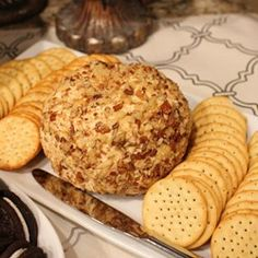 A simple ranch-flavored cheese ball coated with chopped pecans is ready in 15 minutes or less, and can be served right away. Keep the ingredients on hand to make an easy appetizer at a moment's notice. Serve with buttery crackers.