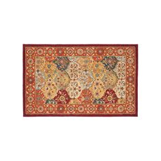 Safavieh Heritage Reine Framed Floral Wool Rug, Red