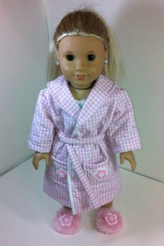 American Girl Doll Pajamas comes with Robe Night by llullugirl,