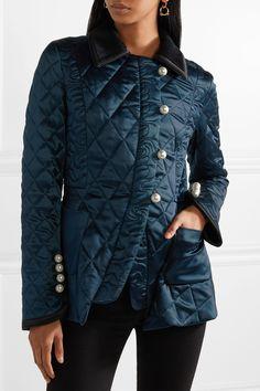 Altuzarra | Isolde velvet and satin-trimmed silk-blend metalassé jacket | NET-A-PORTER.COM