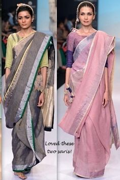 cotton sari Pakistani Outfits, Indian Outfits, Indian Clothes, Indian Attire, Indian Ethnic Wear, Moda India, Formal Saree, Drape Sarees, Indian Bollywood