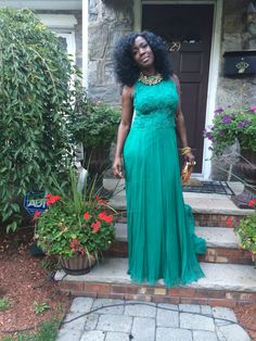 Green dress #weddingflow