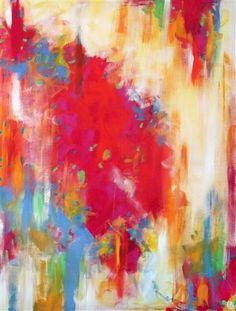 acrylic paintings, abstract art, melted crayon art, acrylics, melted crayons, christin socchio, rainbow colors, christin soccio, bedroom art