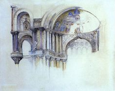 John Ruskin, North West Porch of St Mark's Cathedral, Venice, 1877