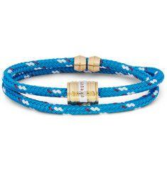 MiansaiWoven-Cord and Metal Wrap Bracelet