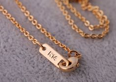 Dainty Gold Alloy Necklace With Zirconia Pendant $10.98