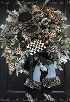 MADE to ORDER  Shopping Diva Winter Wreath  by PetalsnPlumes
