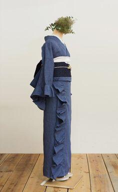 Denim + Ruffles + Kimono = LOVE ゴフクヤサン・ドットコム 居内商店(@gofukuyasan)