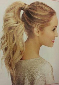 Blond + Ponytail + Voluminous