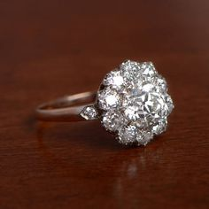 1.56 carat Old European Cut Diamond  Diamond Cluster