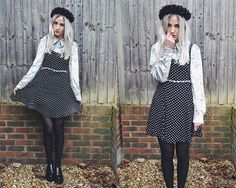 VELVET POLKADOTS. (by Sara Thomas) http://lookbook.nu/look/4693103-VELVET-POLKADOTS