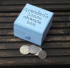 Grandad's Loose Change Box wooden keepsake storage by scratchycat