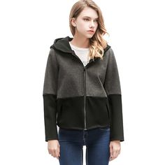 Ryanzhan 2017 Spring New Hooded Casual Women's Autumn Jackets Long Sleeve Patchwork Short Ladies Zipper Coat Cardigan Sweater * AliExpress Affiliate's buyable pin. Find out more on www.aliexpress.com by clicking the VISIT button #Women'sjackets