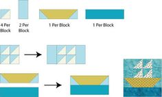 Assemble the Sailboats Quilt Block