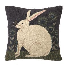 Hare With Sunflowers Pillow