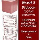 Fifth Grade Math Common Core Measurement and Data I Can Cards  If you are a fifth grade teacher this is a must have for your Common Core classroom....