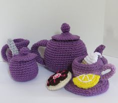 CROCHET N PLAY DESIGNS: New Crochet Pattern: Tea Set